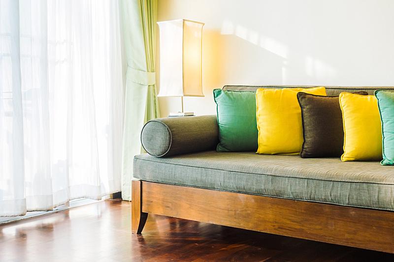 沙发,软垫,留白,水平画幅,无人,椅子,装饰物,摄影