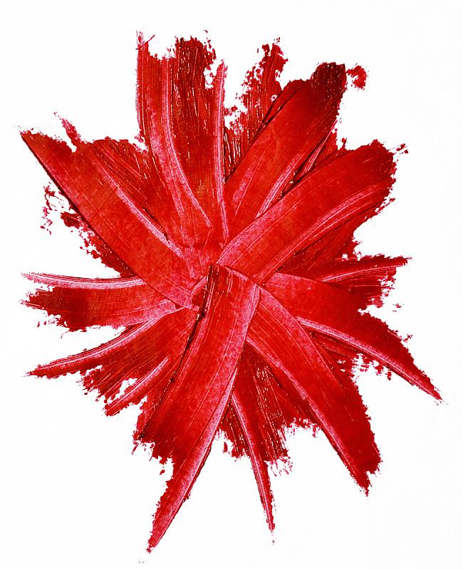 有污迹的,白色背景,分离着色,红色的口红,个人随身用品,垂直画幅,调色板,无人,美容院,抽象