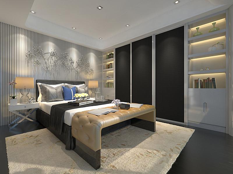 绘画插图,室内,卧室,三维图形,床,窗户,住宅房间,水平画幅,无人,装饰物