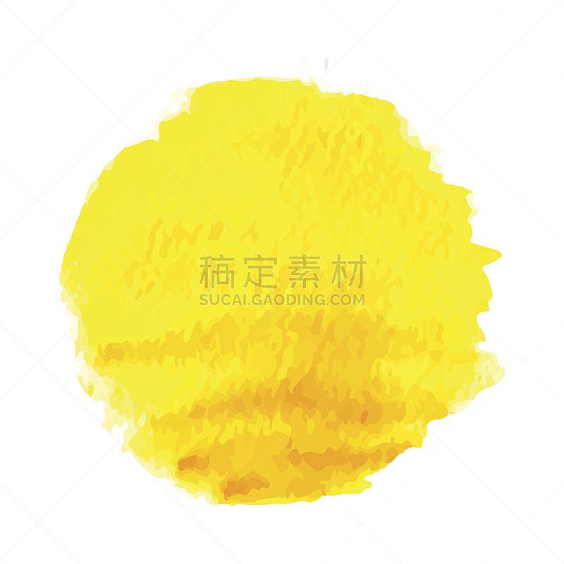 绘画插图,日光,矢量,水彩画,纹理效果,热,水彩画颜料,背景分离,橙子,玷污的