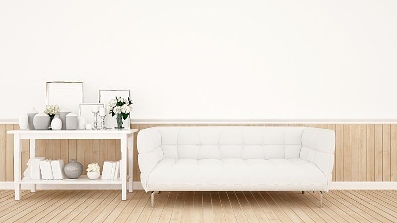 沙发,白色,三维图形,公寓,室内,住宅内部,起居室,住宅房间,简单,装饰