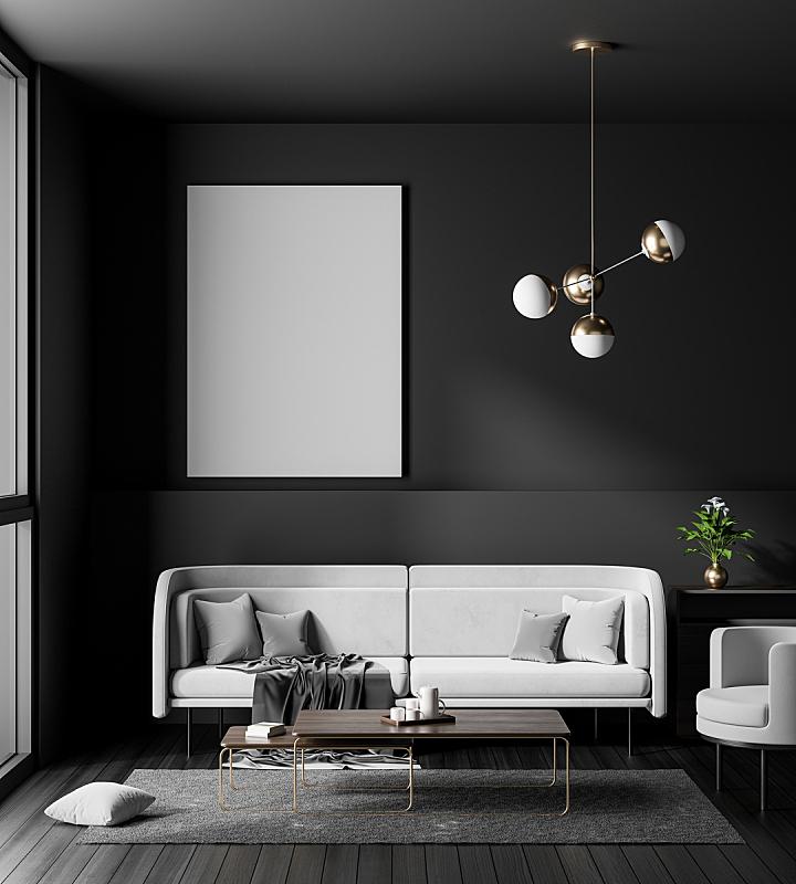 边框,现代,绘画插图,潮人,正下方视角,极简构图,三维图形,高雅,室内设计师