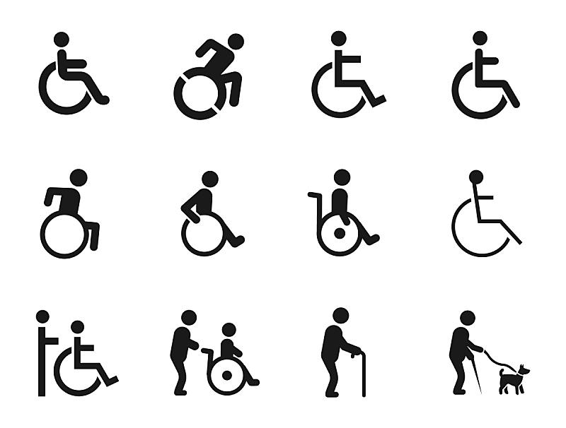 计算机图标,肢体缺损,身体受伤,车轮,座位,水平画幅,易接近性,椅子,绘画插图,符号