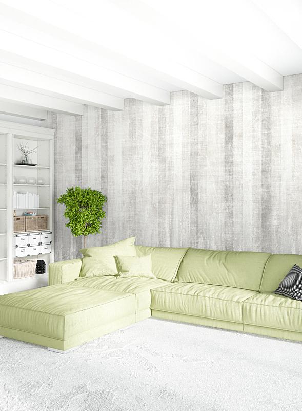 绘画插图,高雅,白色,沙发,木制,极简构图