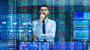 商人,数据,显示器,图表,充满的,财务数据,黑颈长脚鹬,在上面,证券交易所,分析