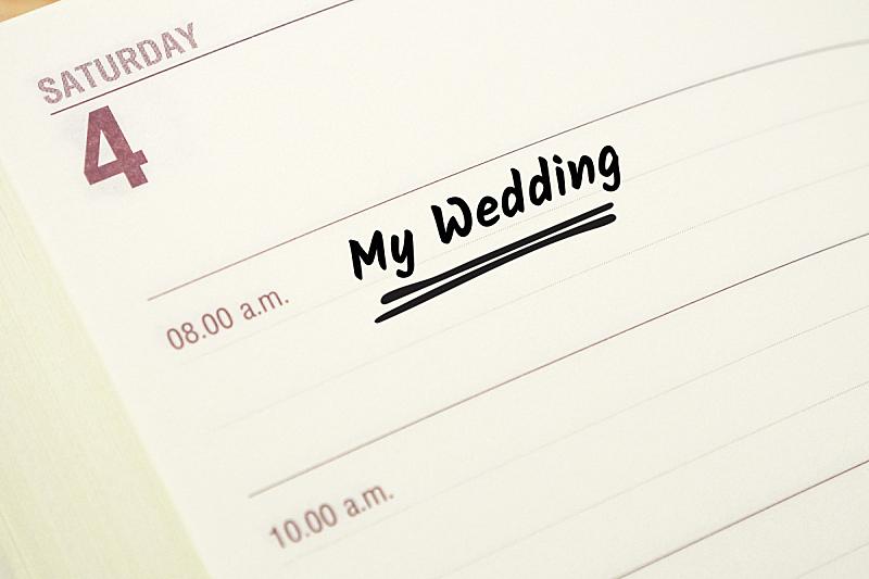 个人备忘录,婚礼,单词,水平画幅,无人,日历,事件,白昼,图像,摄影