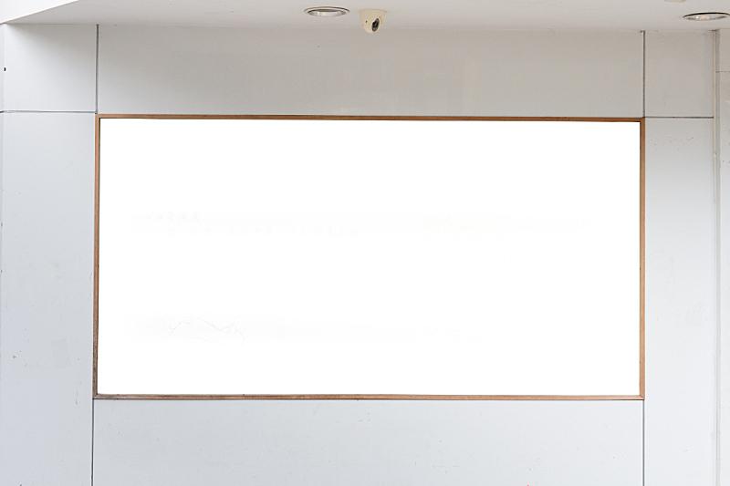 布告栏,街道,空白的,水平画幅,无人,布告,户外,灯,传媒