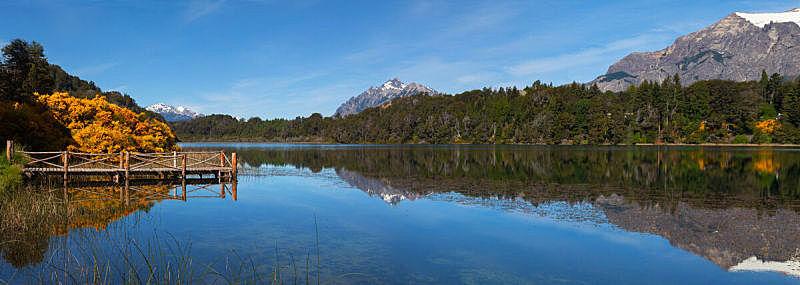 阿根廷,泻湖,巴塔哥尼亚,讷韦尔瓦皮国家公园,巴里洛切,自然,南美,安地斯山脉,水平画幅,雪