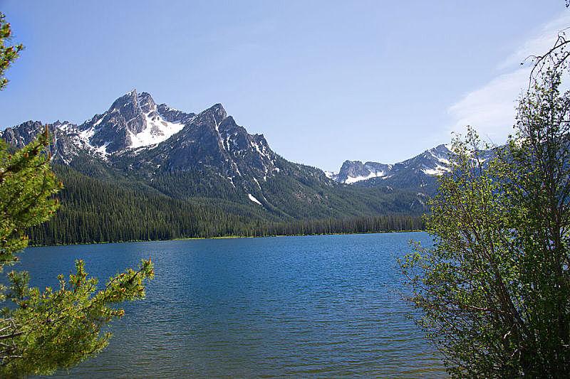 湖,司坦利,天空,美,休闲活动,水平画幅,无人,夏天,户外,锯齿山脉
