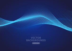 矢量,波纹,粒子,蓝色,抽象,式样,螺旋,遗传研究,联系,流动
