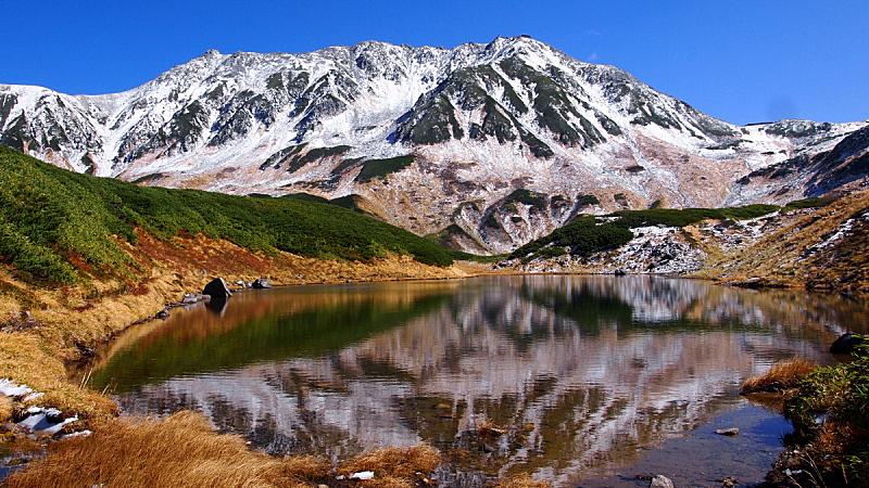 富山,富山县,日本,看风景,日本阿尔卑斯山脉,水平画幅,地形,山,无人,早晨