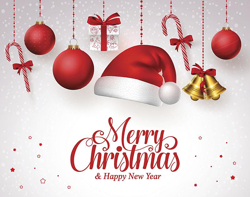 悬挂的,红色,艺术标题,圣诞帽,铃,圣诞装饰,圣诞装饰物,帽子,圣诞老人