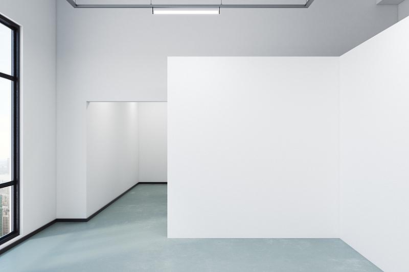 现代,空的,室内,城市,艺术,水平画幅,无人,绘画插图,天花板