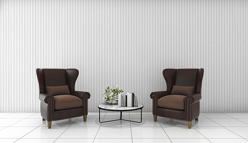 白色,住宅房间,极简构图,皮革,沙发,自然美,三维图形,家具,明亮,现代