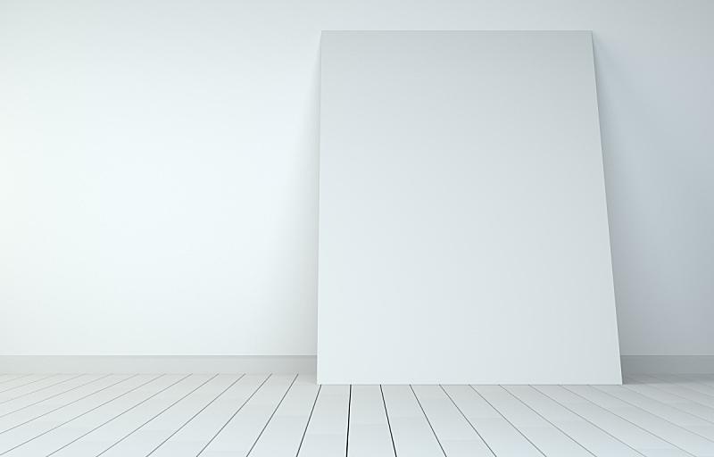 住宅房间,白色,硬木地板,空白的,白皮书,留白,水平画幅,墙