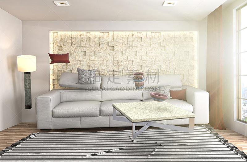沙发,三维图形,起居室,绘画插图,水平画幅,无人,家具,俄罗斯,现代,两翼昆虫