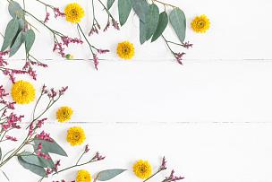 在上面,白色,木制,背景,平铺,视角,边框,艺术,水平画幅,情人节