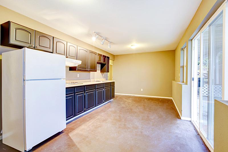 古老的,明亮,住宅房间,房屋,室内,厨房,米色,新的,水平画幅,墙