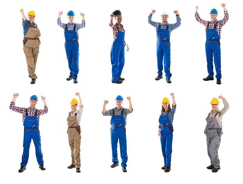 手臂,抽象拼贴画,提举,电工,护理人员,修理工,女性,制服,管道工,工匠