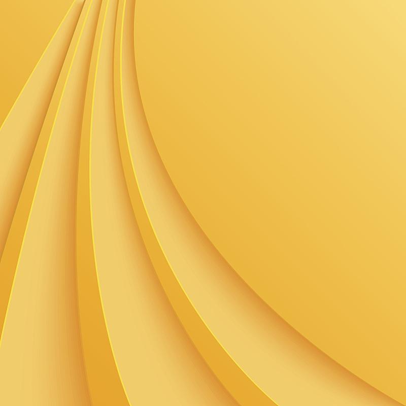 抽象,线条,黄色背景,未来,形状,无人,蓝色,绘画插图,小册子,计算机制图