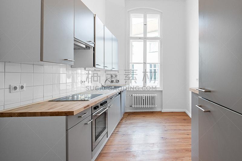 硬木地板,住宅房间,厨房,美,水平画幅,纽帕尔兹,家具,干净,明亮,居住区