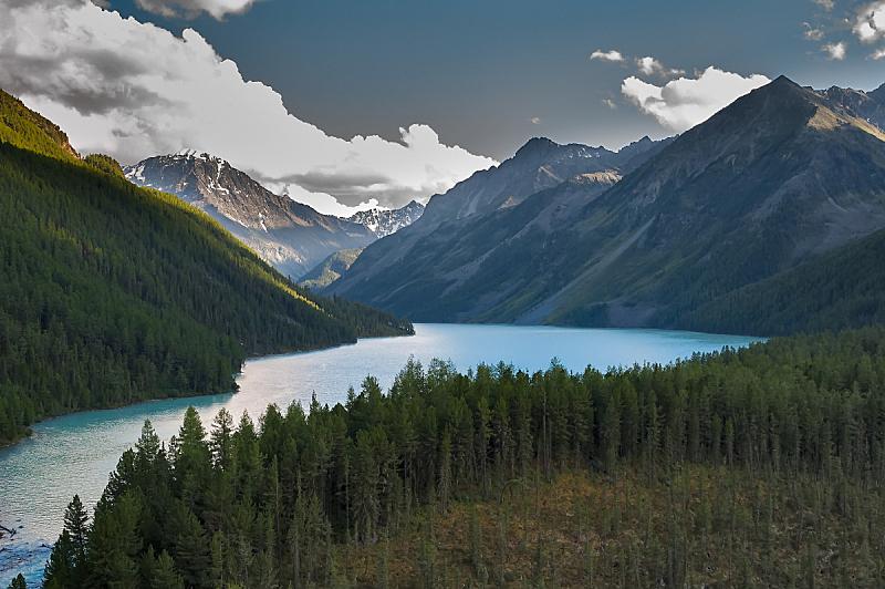 湖,俄罗斯,水,天空,水平画幅,雪,无人,夏天,户外,草