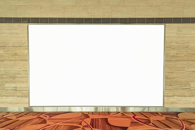 市场营销,空的,布告栏,空白的,机场,传媒,围墙,文本消息,边框,水平画幅