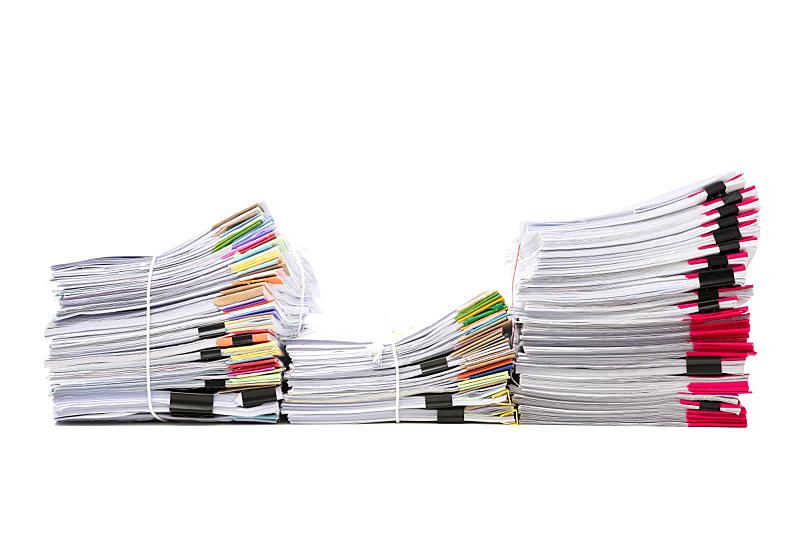 文档,商务,白色背景,分离着色,混沌,办公室,水平画幅,消息,忙碌,组物体