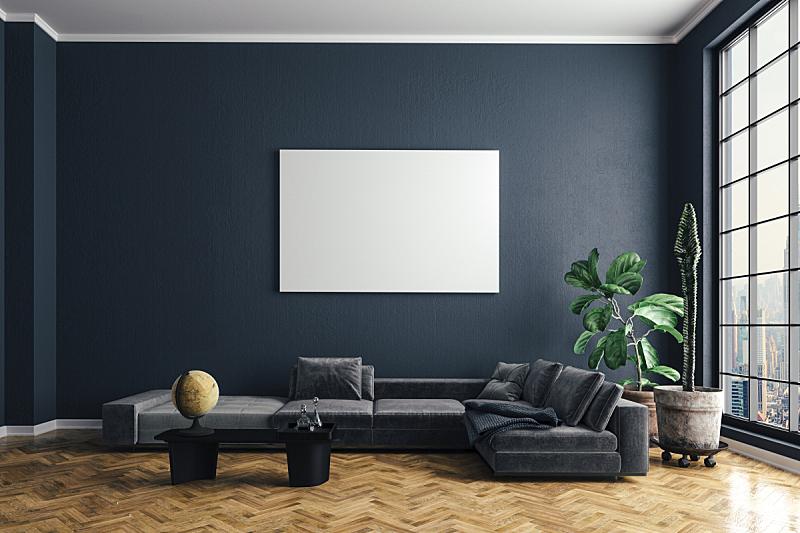 沙发,三维图形,室内,自然美,硬木地板,空的,纺织品,华贵,舒服,罗马尼亚