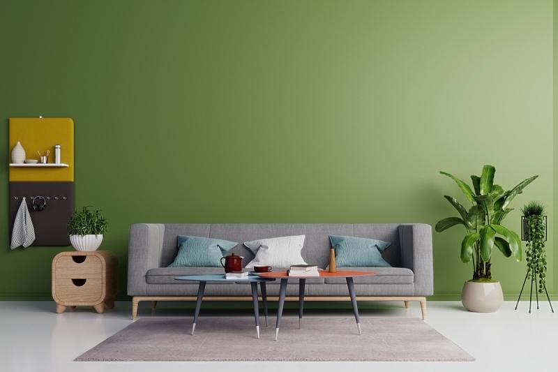 沙发,起居室,灰色,热,空的,华贵,椅子,现代,装饰物,背景