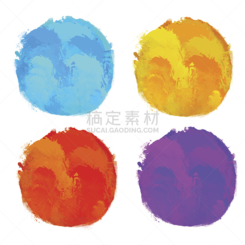 涂料,圆形,舞台,染色剂测试,分离着色,水彩画,纹理效果,水彩画颜料,背景分离,美术工艺