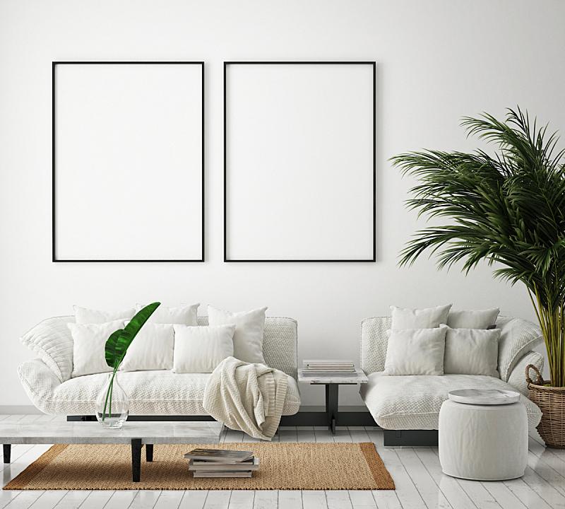 边框,现代,背景,三维图形,室内,轻蔑的,正下方视角,起居室