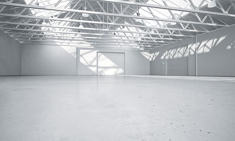 明亮,仓库,干净,三维图形,汽车展示厅,飞机库,画廊,留白,套色版,天花板