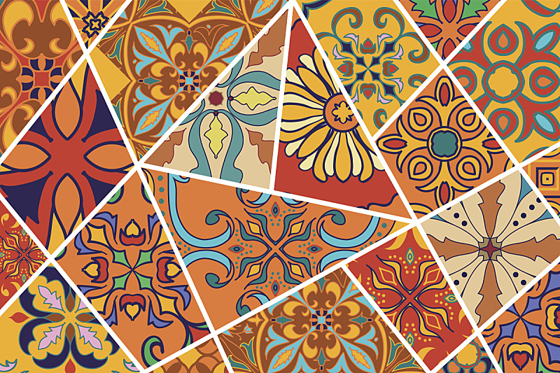 镶嵌图案,拼缝物,华丽的,背景,矢量,式样,时尚,长软椅,砖地,瓷砖