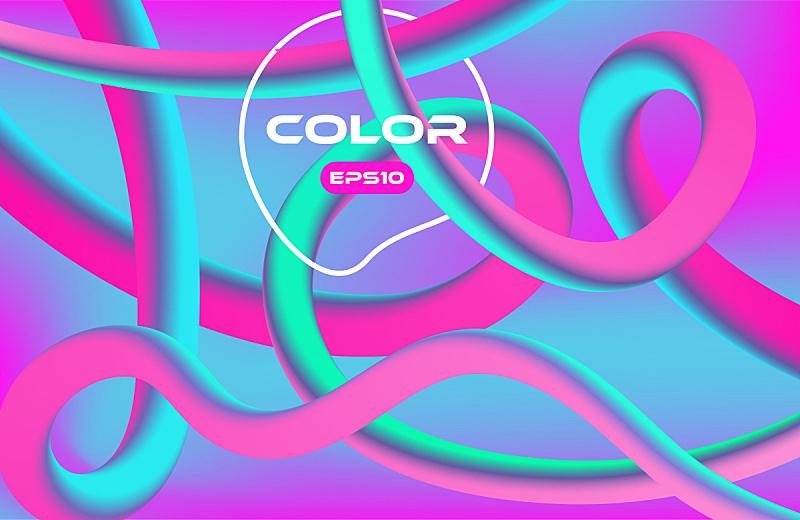 色彩鲜艳,液体,矢量,形状,背景,抽象,山,活力,彩色背景,光亮