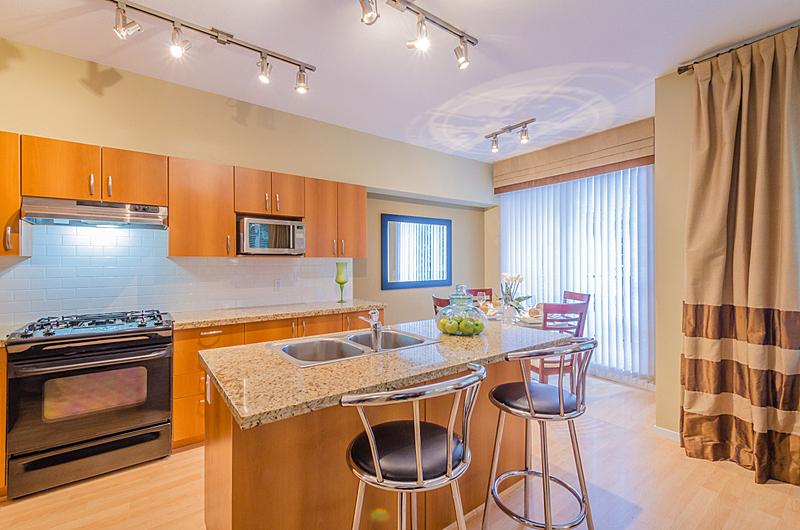厨房,住宅房间,褐色,新的,水平画幅,无人,柜子,微波炉,抽屉
