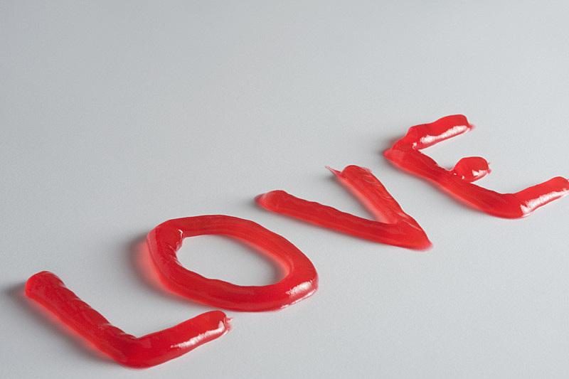 果酱,单词,红色,水平画幅,无人,2015年,爱,做,摄影,保存