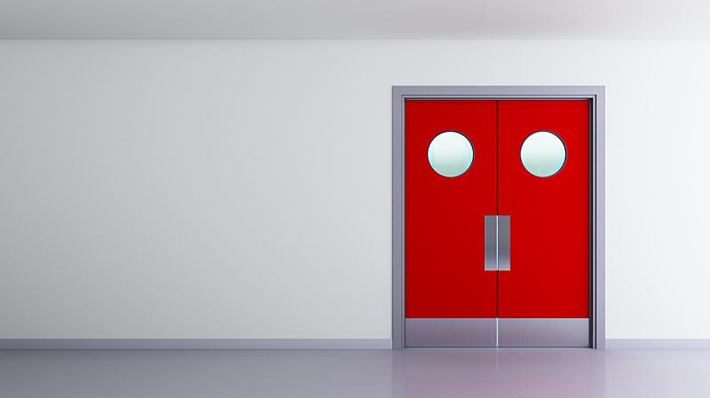 太空,红色,室内,双门夜总会,新的,门口,水平画幅,墙,易接近性,无人