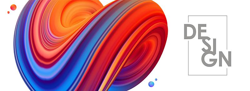 绘画插图,矢量,形状,三维图形,蓝色,抽象,红色,设计,缠绕