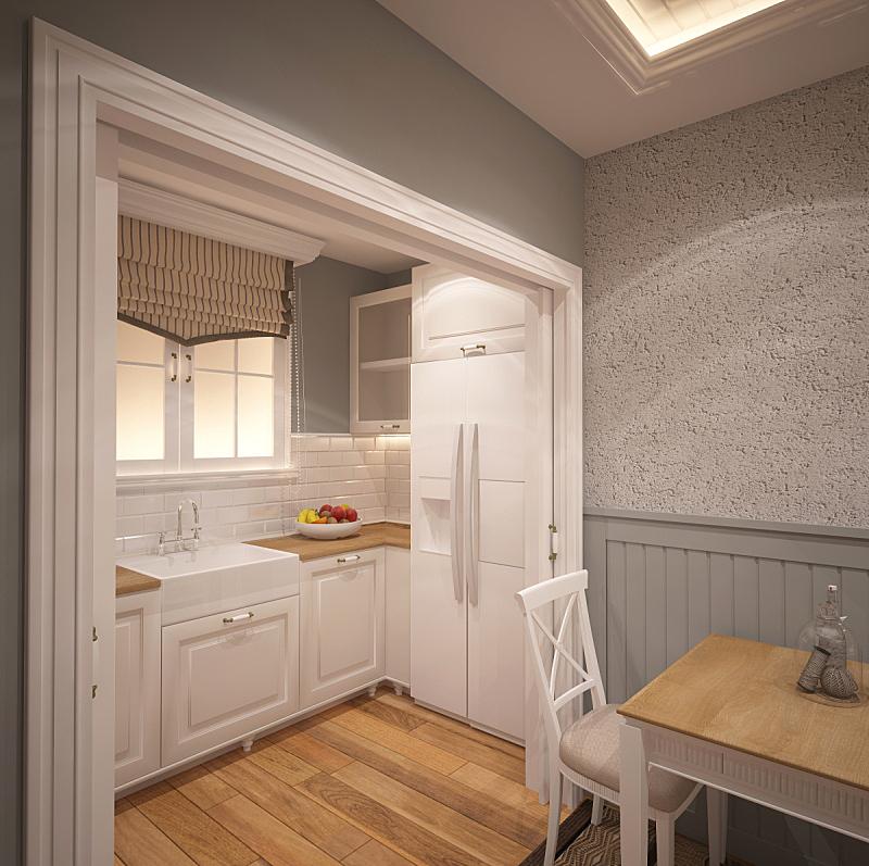 三维图形,饭厅,厨房,室内设计师,水平画幅,形状,无人,椅子,家具,现代