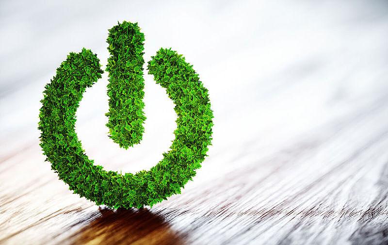 按钮,绿色,新的,能源,绘画插图,草,电源,想法,技术,可持续生活方式