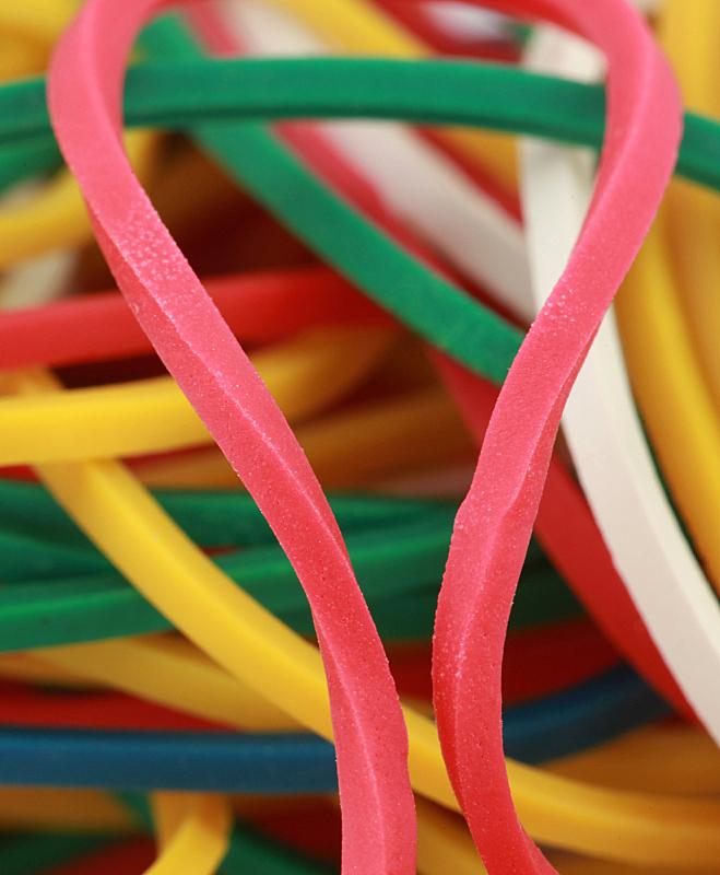 橡皮圈,大特写,多色的,垂直画幅,绿色,无人,蓝色,弹性,堆,红色