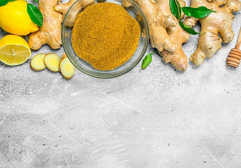 生姜,陆地,,蔬菜,清新,自然界的状态,香料,食品,成分,餐具