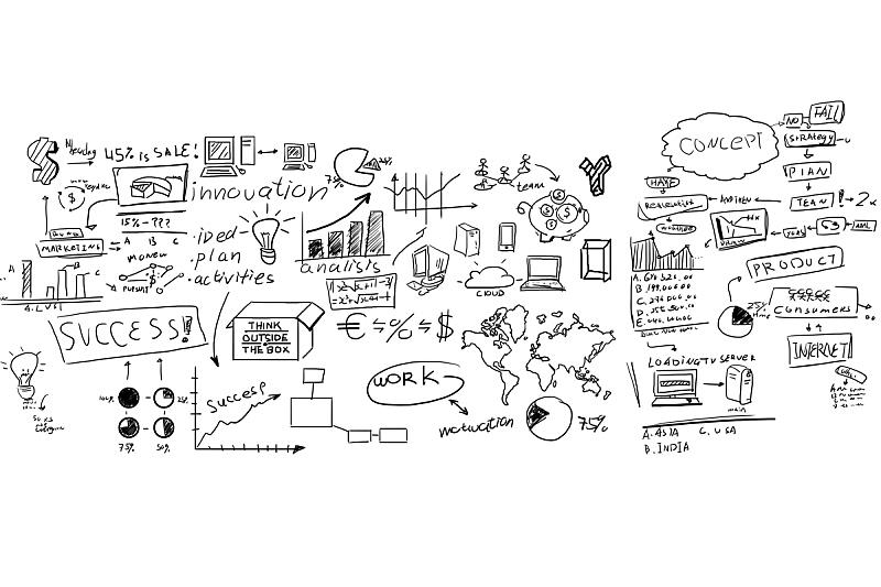 白板,商务,毡尖笔,英文字母,计划书,美元符号,绘画插图,网络服务器,想法,云计算