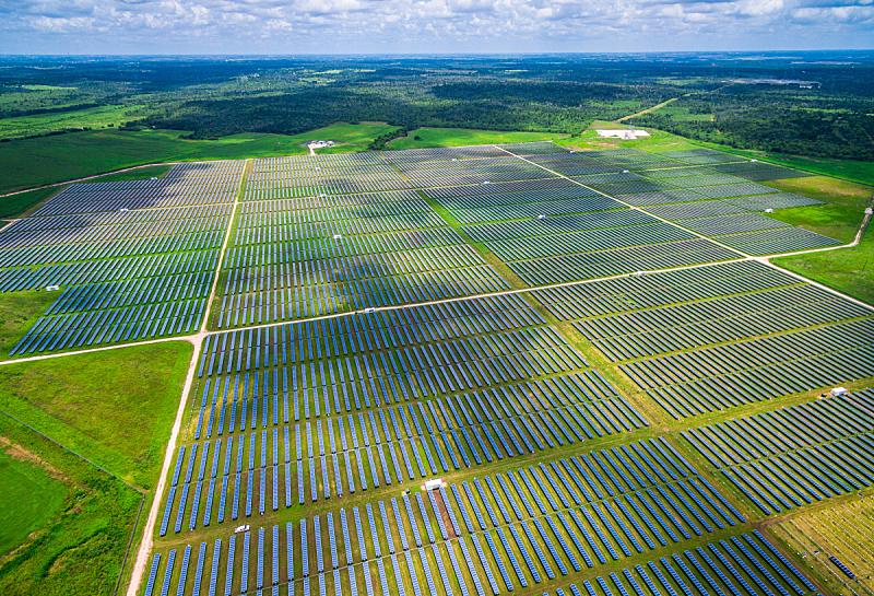丰富,航拍视角,太阳能,德克萨斯,中环,太阳能电池板,未来,得克萨斯州山丘郡,水平画幅,高视角