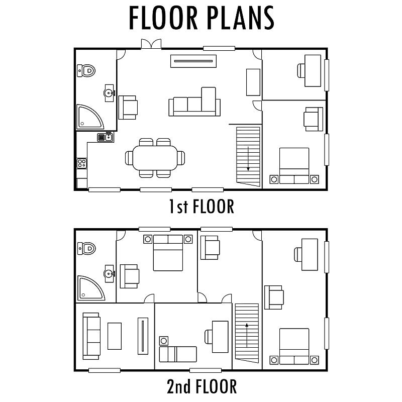 家具,房屋,花盆,蓝图,室内地面,第一名,数字2,边框,形状,建筑设备