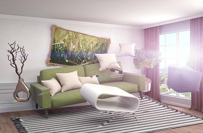 家具,绘画插图,起居室,三维图形,地震,数字0,水平画幅,无人,俄罗斯,现代
