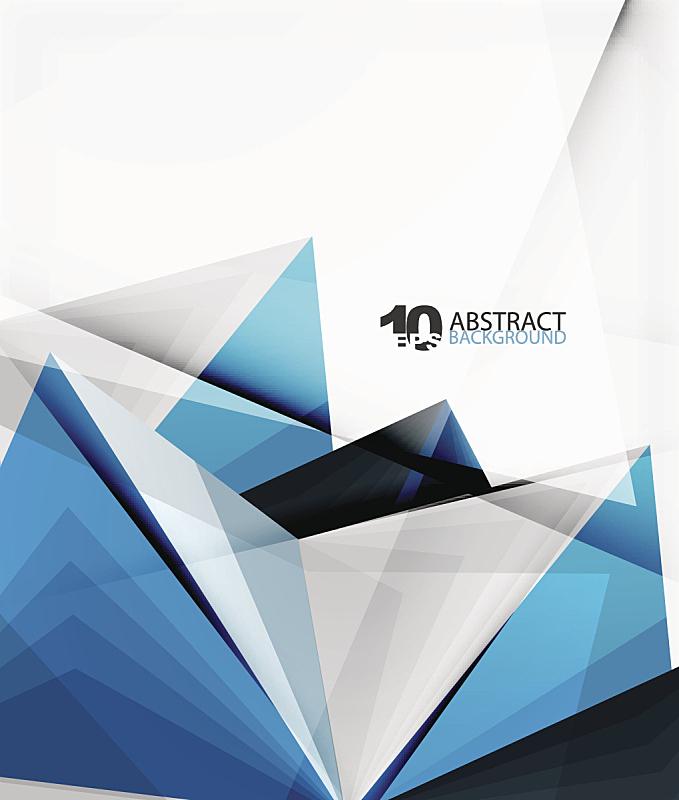 三角形,抽象,矢量,三维图形,分界线,线条,低多边形效果 ,蓝色,条纹,抽象背景