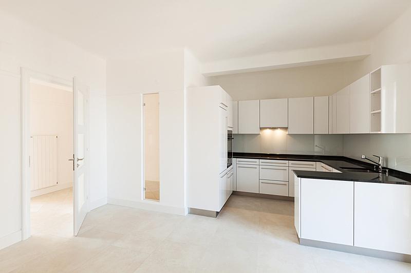 室内,空的,厨房,留白,住宅房间,水平画幅,无人,冰箱,房屋,公寓