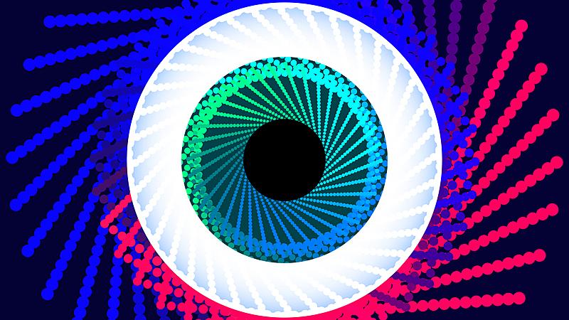 人的眼睛,绘画插图,未来,抽象,科技,螺旋,安全,健康保健,螺线,计算机